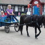 Tur med häst och vagn i Hembygdsparken, Ängelholm