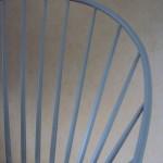 Detalj av stol från Antikkulan utanför Ängelholm