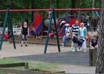 Gungorna på lekplatsen i Hembygdsparken, Ängelholm